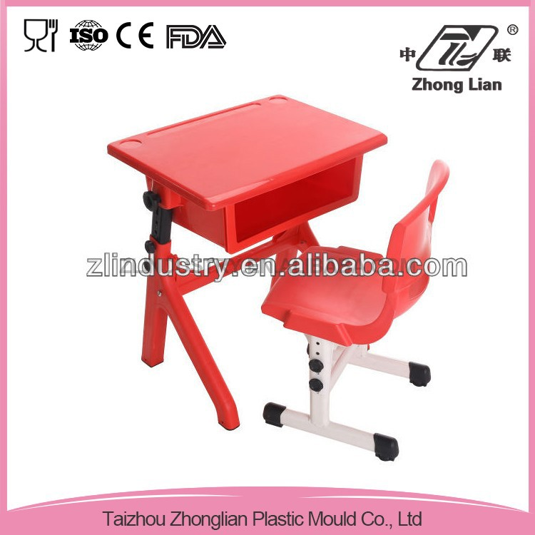 Hot sale colorful plastic stable chair table school