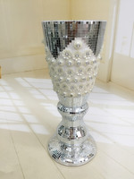 home decoration clear glass vase,flower vase stand