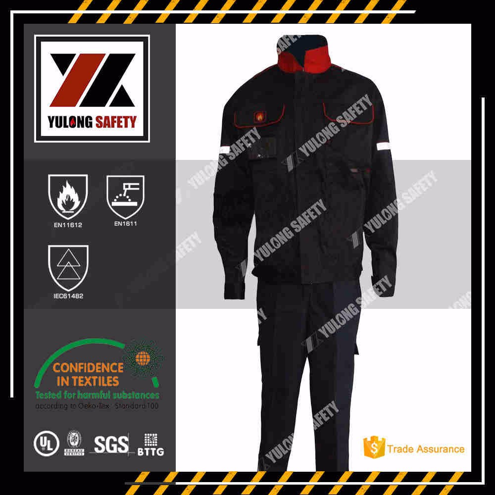 Wholesale EN11612 Flame Retardant Aramid Coverall For Fire Fighters