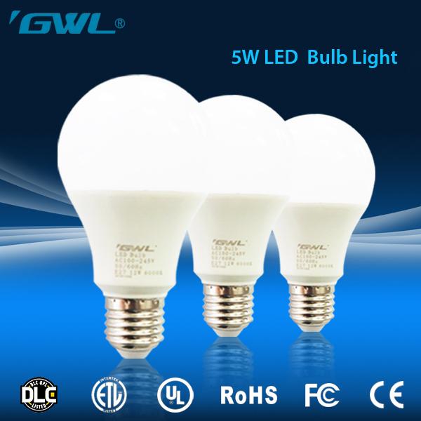 Soft lighting energy saving E27 led bulb, high quality 5 watt led bulb 700 lumen
