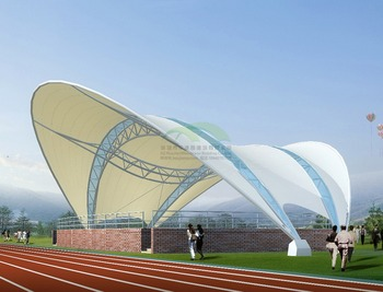 Sports stadium membrane structure awning /Q235 steel large stadium stands awning