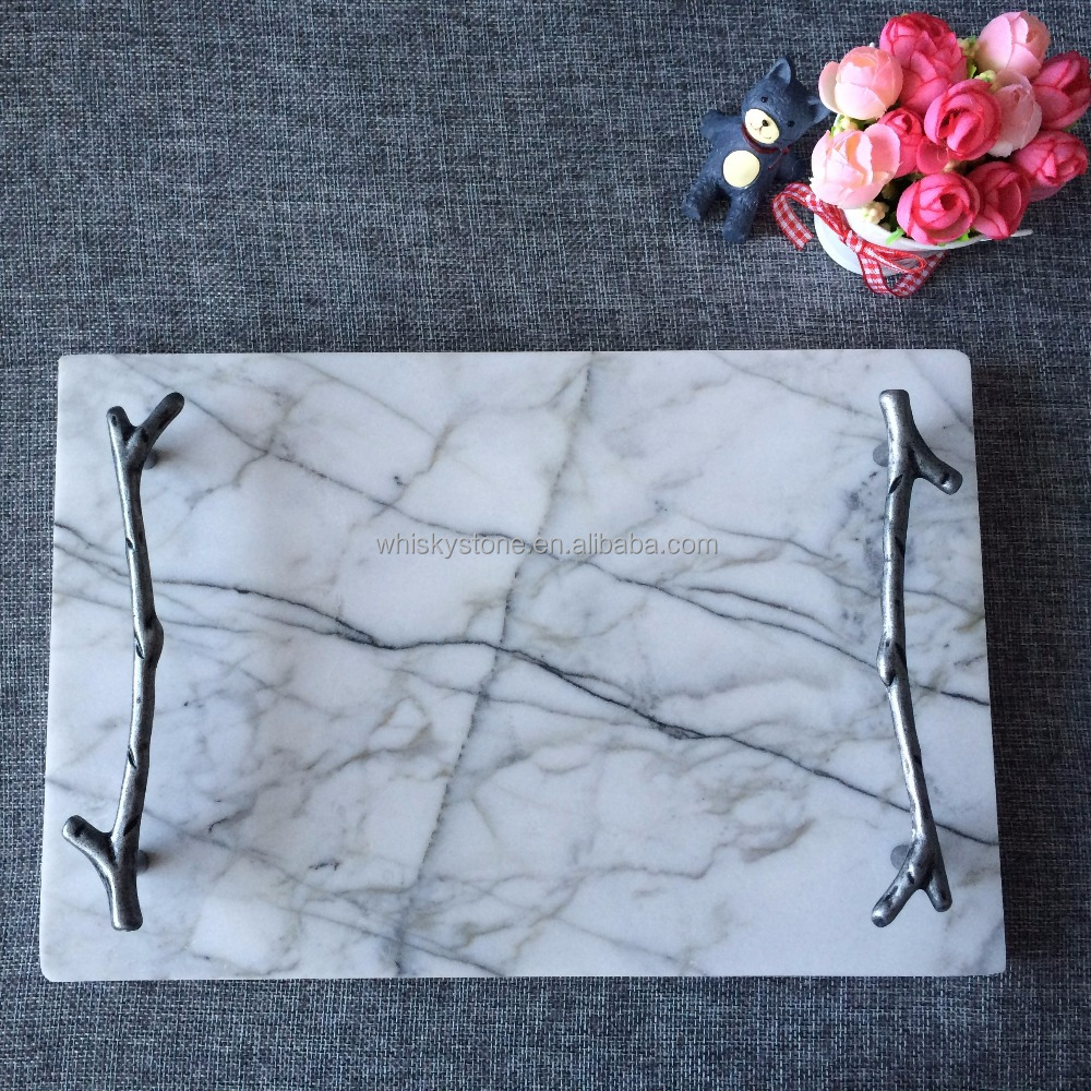 Kitchen Collection Marble Pastry Board with handles
