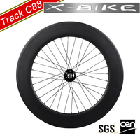 XBIKE high stiffness 3k matte 700c carbon 88mm clincher road wheels