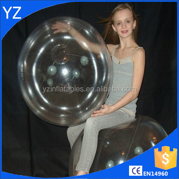 2016 Hot sale Pvc inflatable 36inch 1 Color Crystal Clear Beach Ball