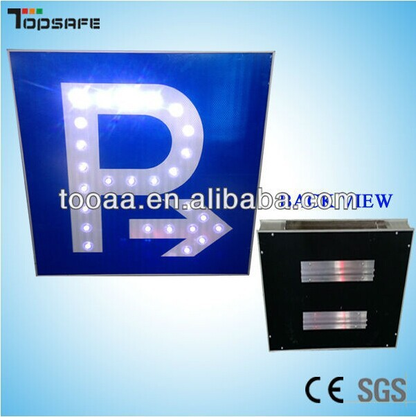 Aluminum led parking traffic sign board