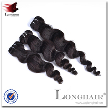 Very cheap and high quality 4a grade Indian super wave machine weft