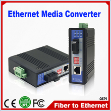 10 100 Mbps Industrial Grade Fast Fiber Optic To RJ45 Ethernet Media Converter