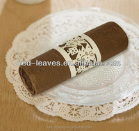 Cheap round rattan christmas napkin rings