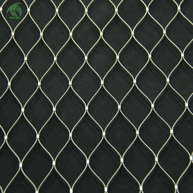 X tend Flexible Stainless Steel Small Bird Aviary Netting Knitted Wire Rope <strong>Mesh</strong>