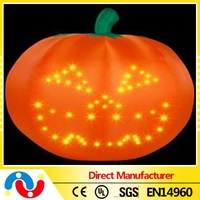 2015 wholesale cheap toy orange color lighted inflatable pumpkin halloween bucket