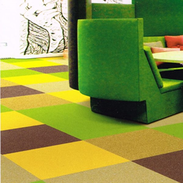 China Factory-Direct Yellow Green Carpet Tiles