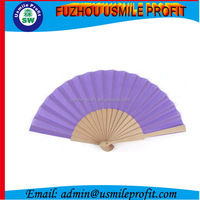 Custom Bamboo And Cloth Hand Fans
