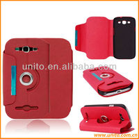 360 Degree Rotating Stand Leather Case For Samsung Galaxy S4