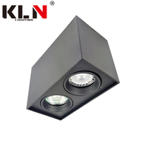 Aluminium Rectangle Black GU10 Surface Two Head <strong>Downlight</strong>