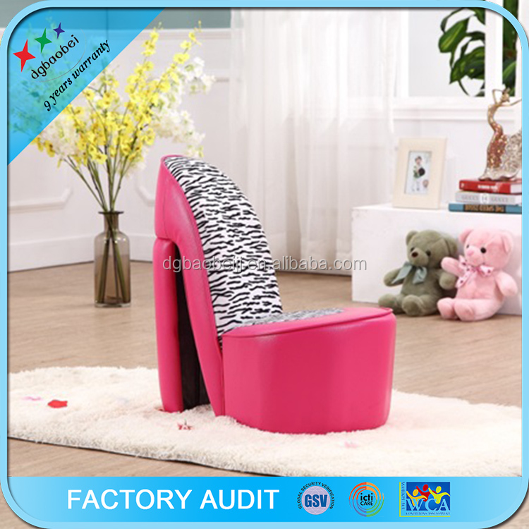 kids modern sofa high heel shoe chair