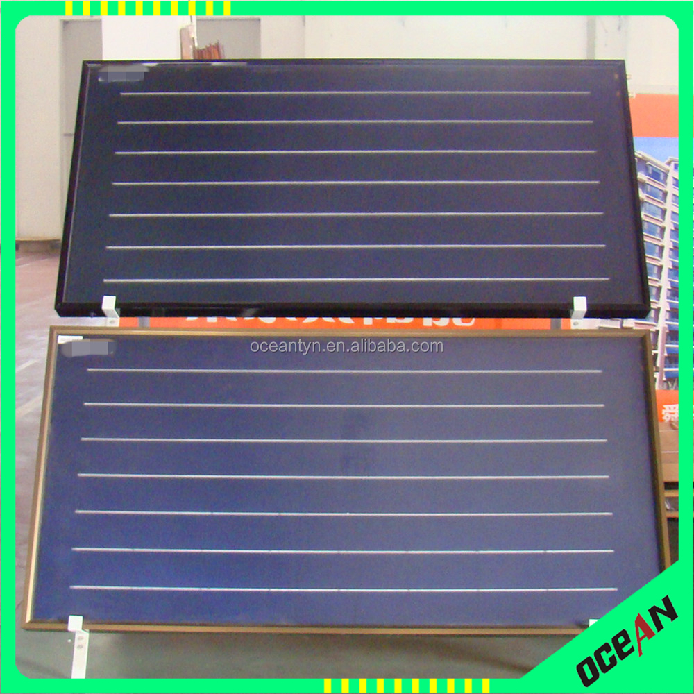 Hot selling flat plate panel solar collector,selective coating for solar collector