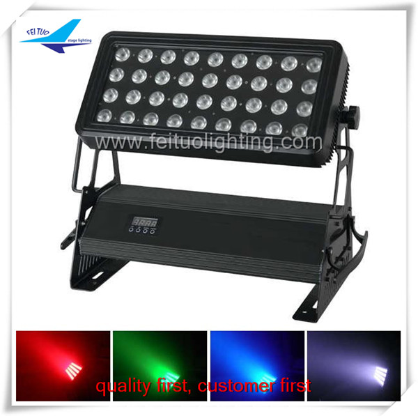 Outdoor stage flood light 36x10w 4in1 rgbw led wall washer