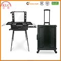 Aluminum Makeup Trolley Case With lighted mirror