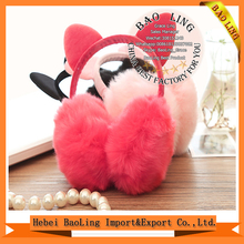 2017 Cute Cat Ear Faux Rabbit Fur Earmuffs Funny Personalized Headphone Ear muffs
