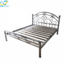 Modern style best designer stainless steel bed frame