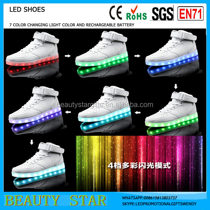 Hot selling led light shoes,Kids shoes led light,7 color changing light shoes led light men&women unsex led shoes