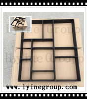 Hot selling! DIY rectangle plastic concrete cement paver patio pavement block mould