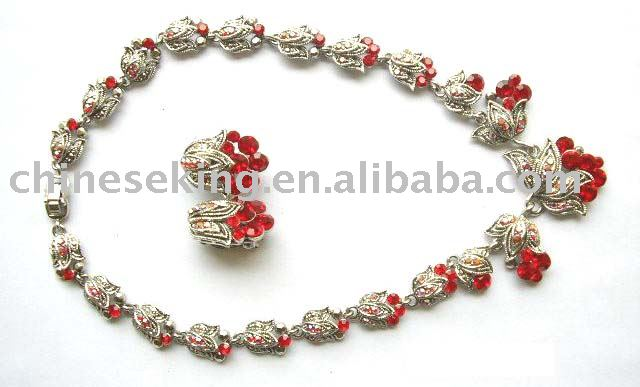 fashion alloy necklace sets,fashion jewelry sets,alloy flower necklace sets,inexpensive necklace sets, inexpensive jewelry
