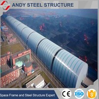 Professional Design Steel Structure Arched Dry Coal Shed