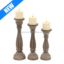 Traditional Pillar Shaped set of 2 Candle Holders for Sale