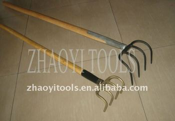 1055040 many specifications high quality forging digging rake curved fork