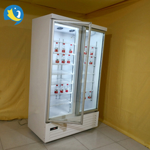 Quality Assurance door number optional sliding ventilated triple doors refrigerator showcase