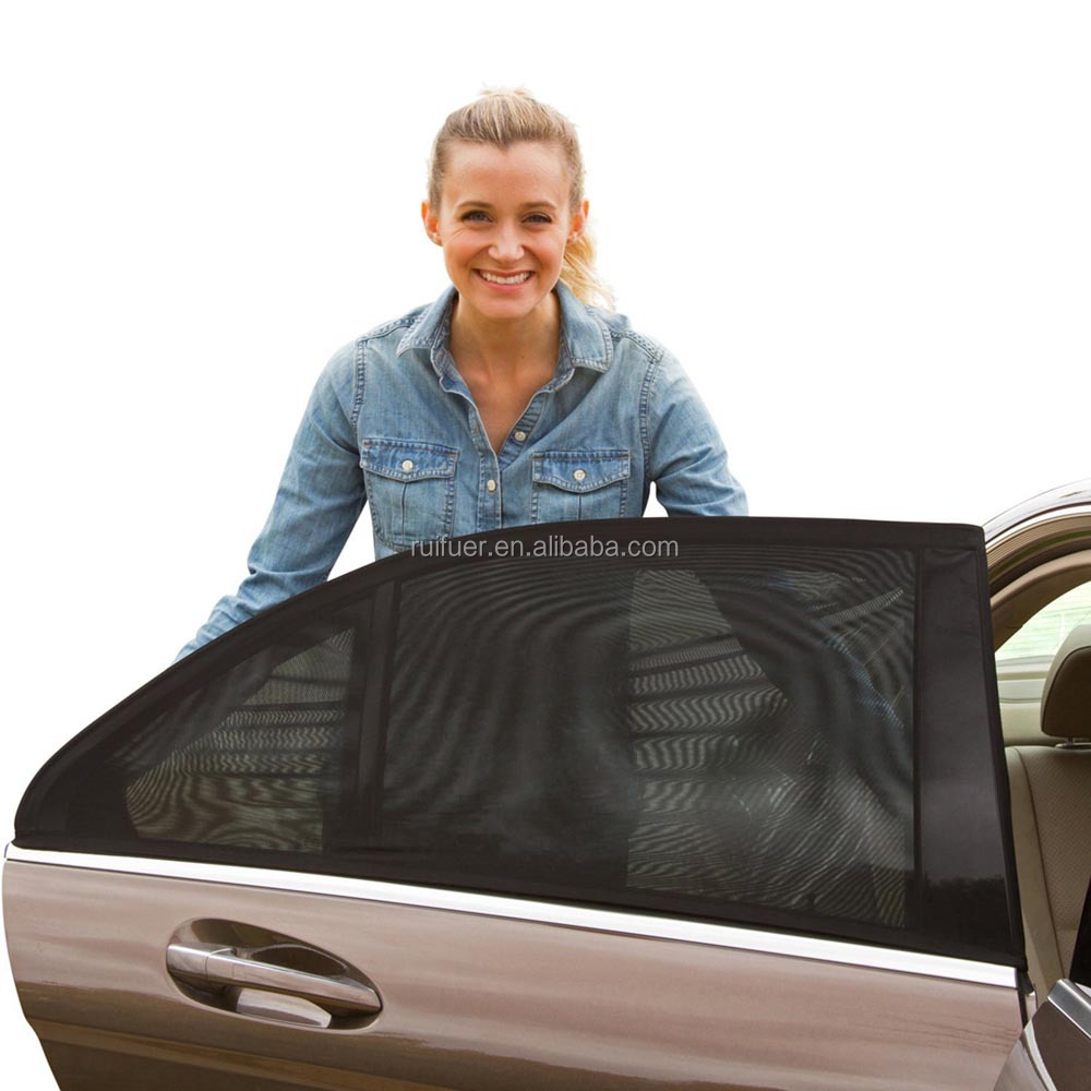 Universal 2 Backseat Breathable Mesh Side Car Window <strong>Sun</strong> Shade for Baby kid