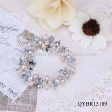 Fashion jewellery pearl crystal bracelet