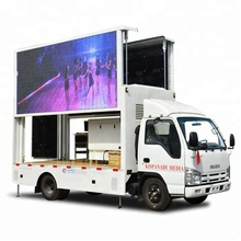 Japan I S U Z U 100P Outdoor advertising P6 Led screen mobile Truck