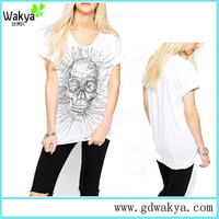 Cheap garments Custom Religion Scratch Skull print tshirt