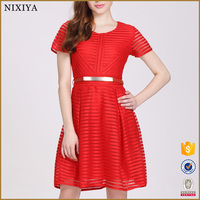Plus Size Clothing Manufacturer Women Cocktail Dresses Red Pattern