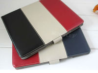 Multi-color leather cover case for ipad4 tablet stand leather case 2013 new products