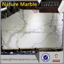China Wholesale slab natural marble polished tiles , Italy white arabescato marble