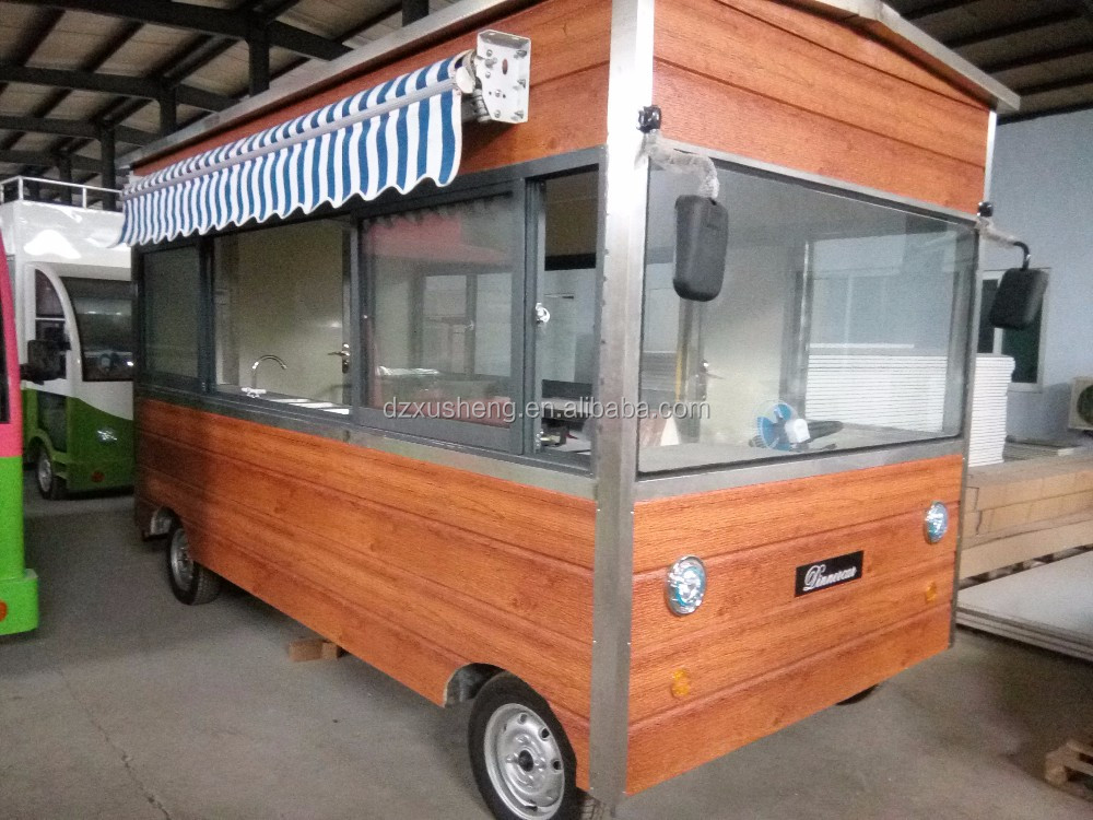 Customized Fast Food Truck Mobile, Food and hot dog Cart