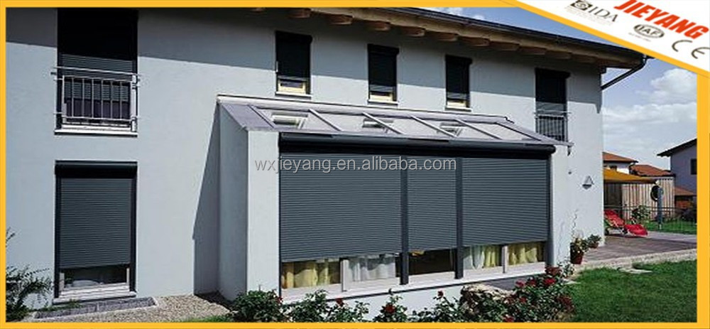 dark color automatic window roll-up shutter