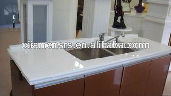 Nano white crystal glasses countertops