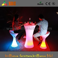 high round bar table glass top bar table modern LED cocktail table GF311