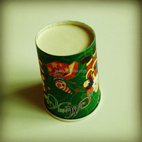 Green father christmas 300ml disposable cups
