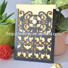 Elegant wedding invitations, black wedding invitations, laser cut wedding invitations pockets & envelopes