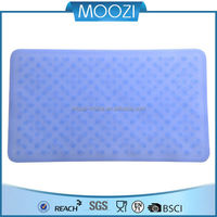 moozi 2015 New Non-slip silicone rubber bath toilet mat for shower bath tub