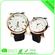 Fashion lover watch genuine leather watch with second dial and single calendar