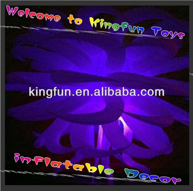 Purple light inflatable star decor for show/festival/promotion