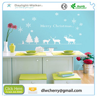 Xmas Decoration White UV Printing Deer Wall Stickers Decal