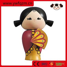 hot sell customs design wooden doll for wholesale