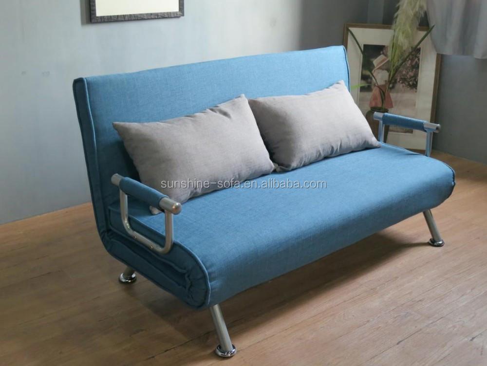 저렴한 거실 현대적인 강철 구조 패브릭 접이식 이불 침대 겸용 ...